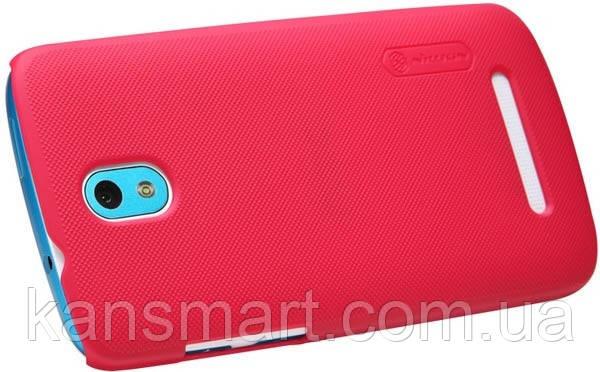 Чехол для HTC Desire 500 Nillkin Frosted Shield Red