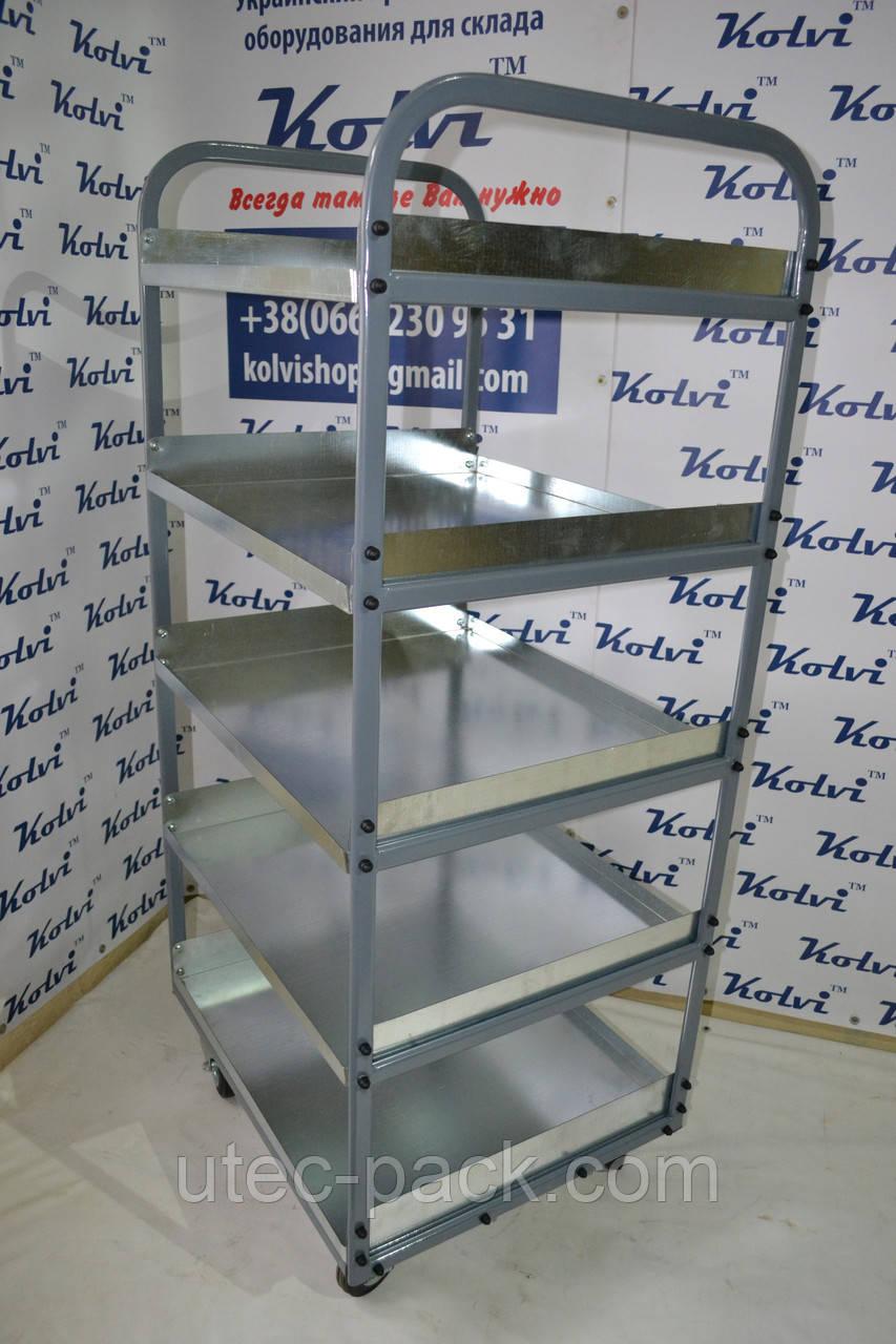Полочная тележка для склада (1,6м*0,7м*0,6м)