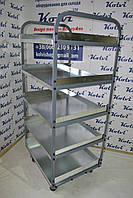 Полочная тележка для склада (1,6м*0,7м*0,6м), фото 1