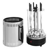 🔝 Электрошашлычница электрическая  на 6 шампуров вертикальная настольная Вкусный Аромат!   🎁%🚚