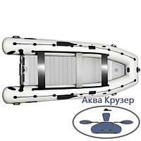 Моторная надувная килевая лодка пвх Omega Ω KU 450 LUX - с жестким днищевым настилом