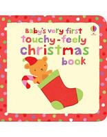 Книга с тактильными ощущениями Baby's Very First Touchy-Feely Christmas Book