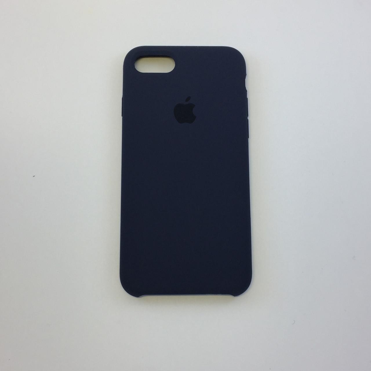 Силиконовый чехол для iPhone 8, - «темно-синий» - copy original