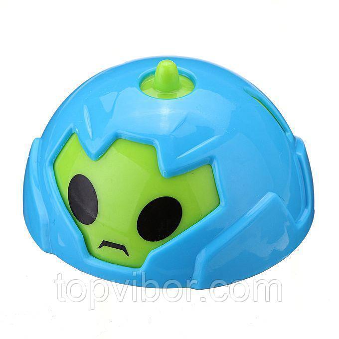 🔝 Детские машинки, Battle Gyro Car, гирокар, в пластиковом яйце - голубой корпус   🎁%🚚