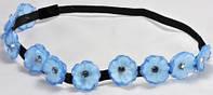 Веночек-повязка О1230-2 голубой