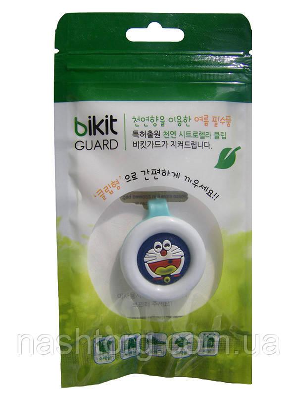 🔝 Натуральное средство от комаров, клипса, Bikit Guard, цвет - голубой (кот) | 🎁%🚚