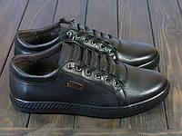 Спортивные мужские туфли кожаные на шнуровке, фото 1