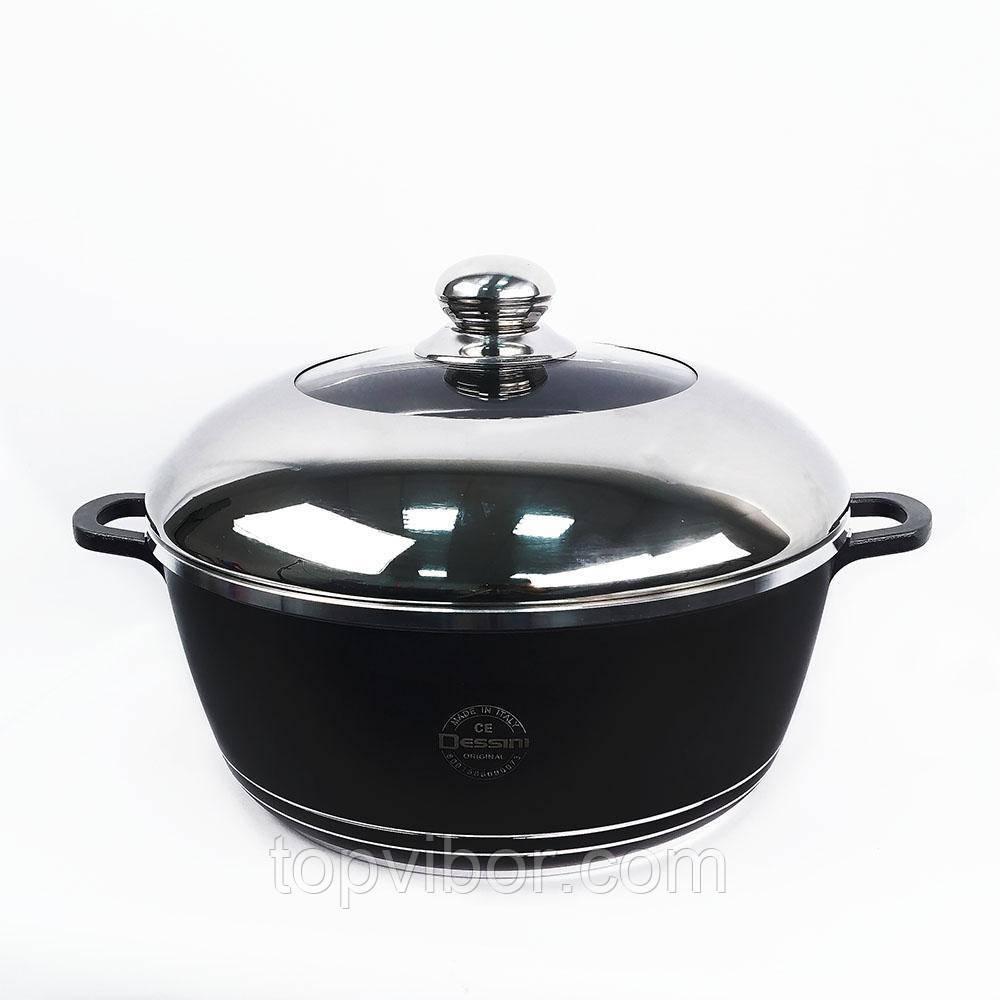 🔝 Кастрюля с антипригарным покрытием, Dessini, 4.5 л., алюминиевая, с толстым дном | 🎁%🚚