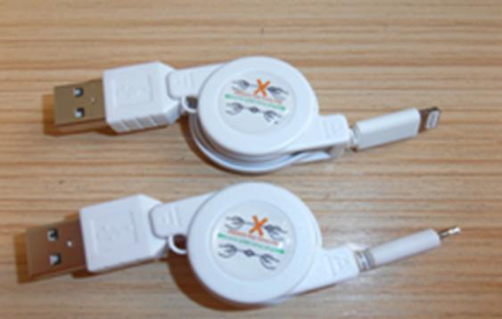 Кабель USB/ Iphone 5 (рулетка) , фото 2