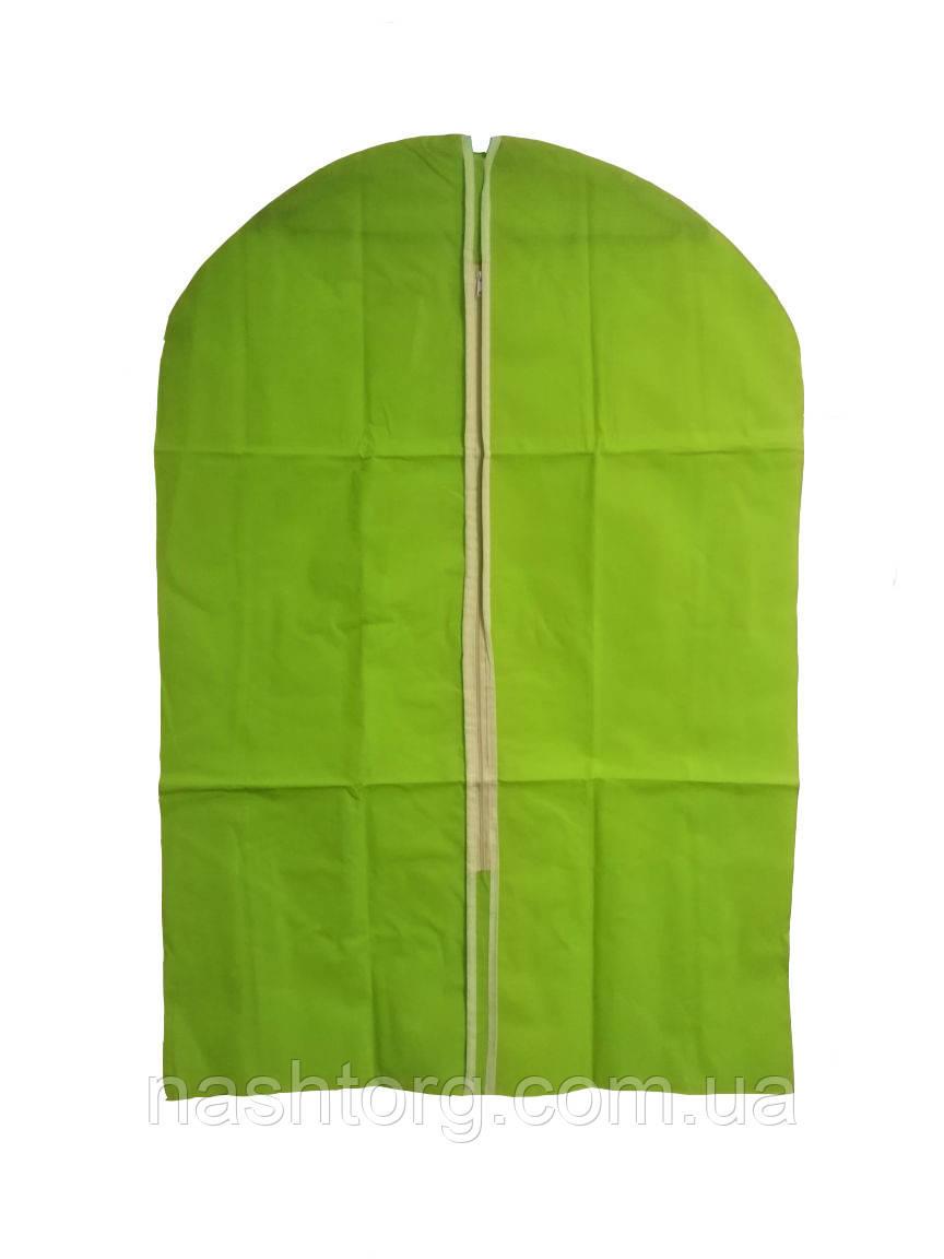🔝 Чехол для одежды, тканевый, 60x90 см., цвет - салатовый | 🎁%🚚