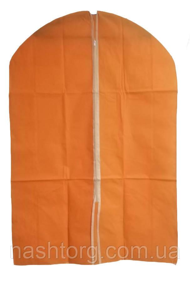 🔝 Чехол для одежды, тканевый, 60x90 см., цвет - оранжевый | 🎁%🚚