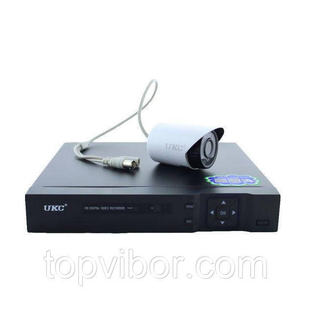 🔝 Комплект видеонаблюдения для дома 4 канальный на 4 камеры DVR CAD D001 KIT, с доставкой по Украине | 🎁%🚚