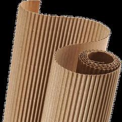 Гофрокартон двухслойный, рулон 105см*10м, толщ. 4мм, вес 2.2кг, ГОСТ 7376-84