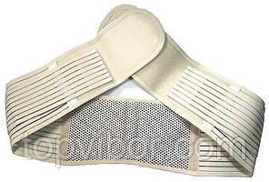 🔝 Пояс для поясницы. Используется и как ,пояс для поддержки спины.Турмалиновый, бежевый.До 110 см.   🎁%🚚