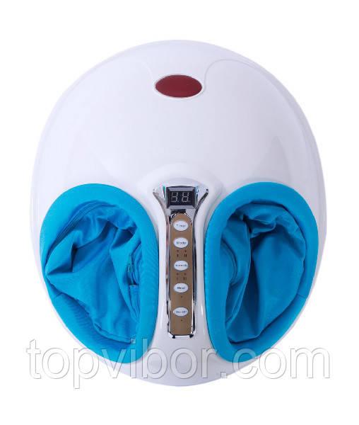 🔝 Электрический массажер для ступней ног Golden Foot treasure - Белый с синим, с доставкой по Украине | 🎁%🚚