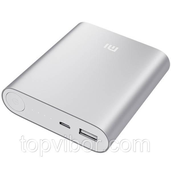 Портативное зарядное устройство Xiaomi Mi 10400mAh (копия) - серебристый корпус