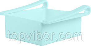 🔝 Подвесной контейнер для холодильника, подставка органайзер, для продуктов, цвет - голубой   🎁%🚚