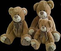Медведь 55 см плюшевый коричневый с бантом мягкие детские игрушки