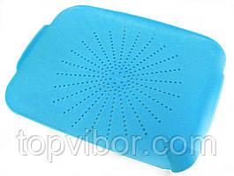 🔝 Дуршлаг на раковину, коврик-дуршлаг, пластиковый, цвет - голубой | 🎁%🚚