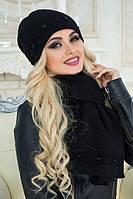Комплект шапка и шарф Соренто черный