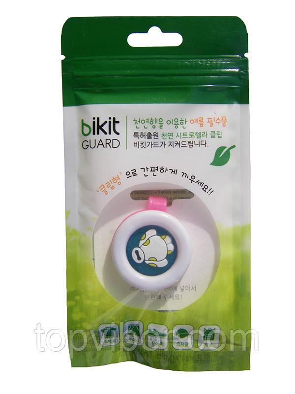🔝 Средство от комаров, клипса, для детей, Bikit Guard, цвет - розовый (робот) | 🎁%🚚