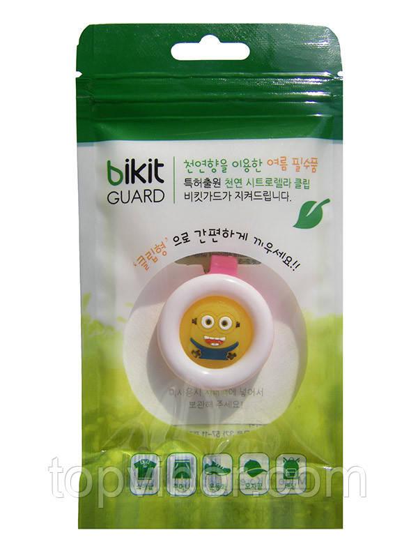🔝 Средство от комаров, натуральное, для детей, Bikit Guard, цвет - розовый (миньон) | 🎁%🚚