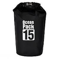🔝 Сумка рюкзак, Water Proof Bag - Ocean Pack, рюкзак мешок, цвет - чёрный | 🎁%🚚, фото 1