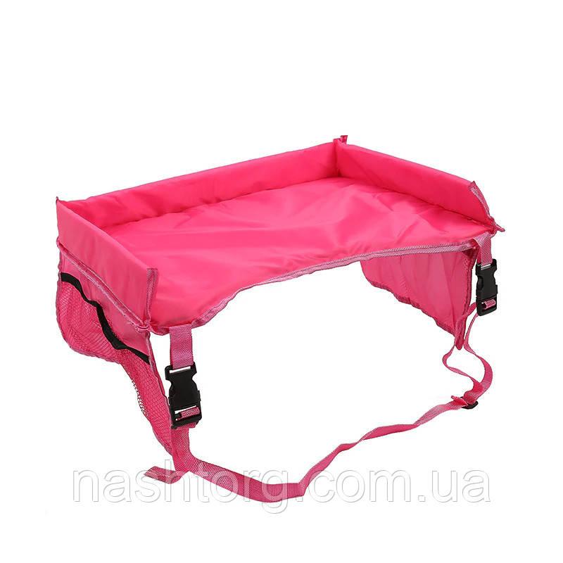 🔝 Автомобильный столик для ребенка Play n' Snack Tray - розовый, с доставкой по Киеву и Украине | 🎁%🚚
