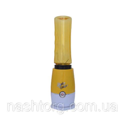 🔝 Блендер для коктейлей, измельчитель, Shake n Take, с бутылкой, цвет - желтый | 🎁%🚚