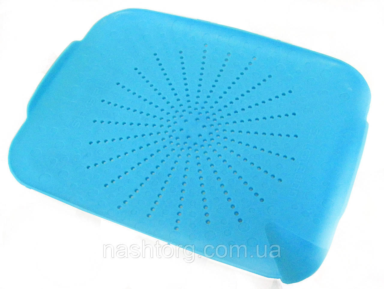 🔝 Дуршлаг на раковину, коврик-дуршлаг, пластиковый, цвет - голубой   🎁%🚚