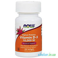 NOW Vitamin D-3 10,000 IU (120 капс) нау витамин д3