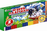 Пластилін Кроха 5 цветов 100 г., Ц348015У, Мицар