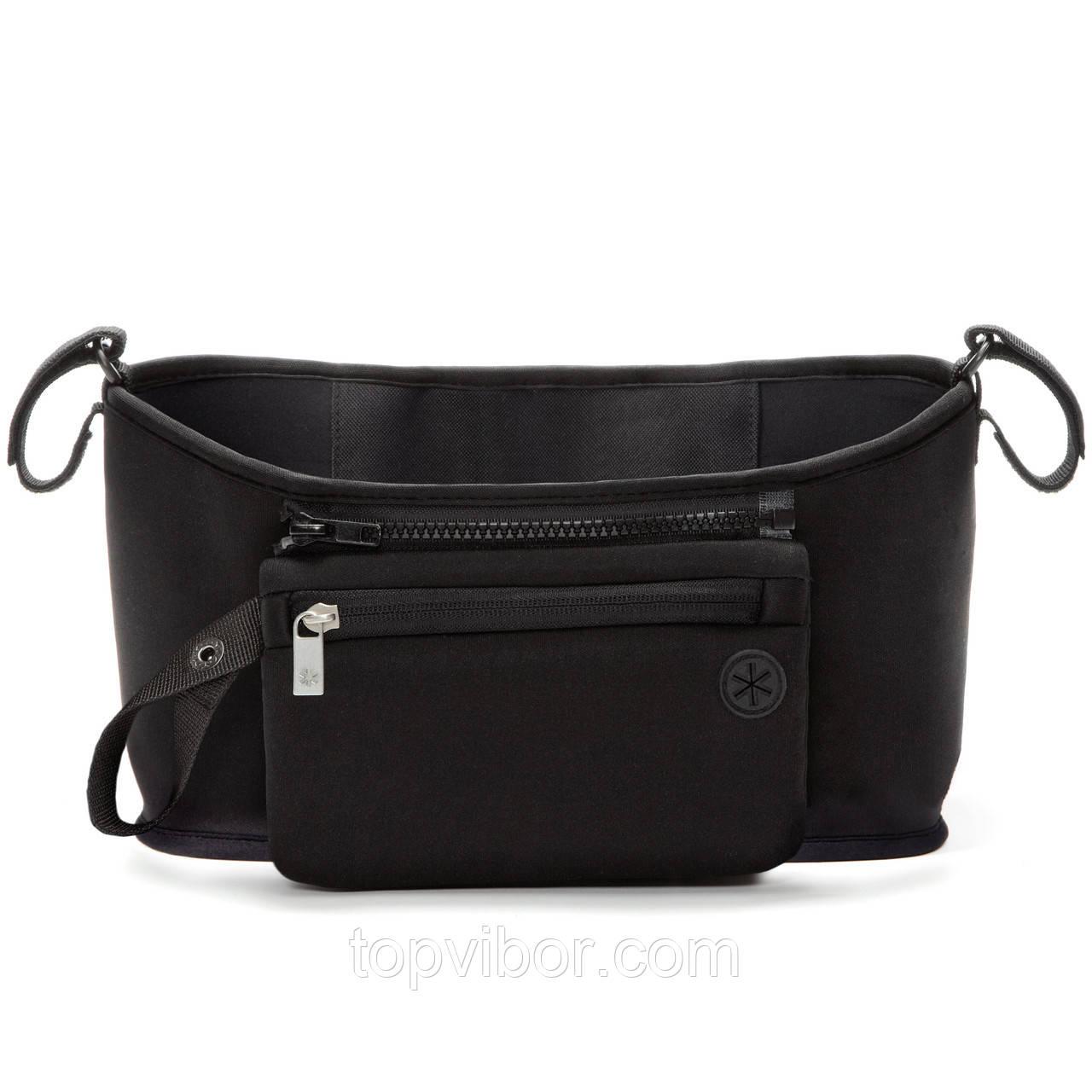 🔝 Органайзер на ручку коляски, сумка чехол, Grab & Go, цвет - чёрный, сумка для мамы на коляску | 🎁%🚚