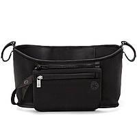 Органайзер на ручку коляски, сумка чехол, Grab & Go, цвет - чёрный, сумка для мамы на коляску, фото 1
