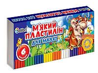 Пластилін мягкий Кроха 6 цветов 100 г., Ц348020У, Мицар