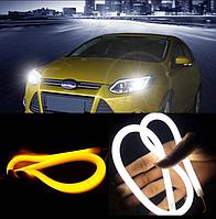 Светодиодная полоса с повторителем поворота белый+желтый