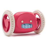 Убегающий будильник с часами Clocky, цвет - Розовый, с доставкой по Киеву и Украине, фото 1