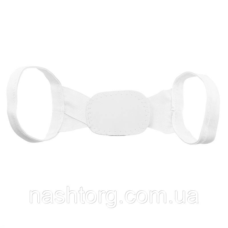 🔝 Корректор осанки под одежду Chest Belt (Чест Белт), цвет - белый, с доставкой по Киеву и Украине   🎁%🚚