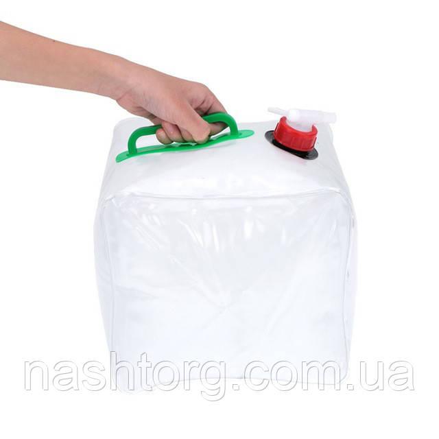 🔝 Походная складная канистра для воды 10 л. (пластиковая) с доставкой по Киеву и Украине   🎁%🚚