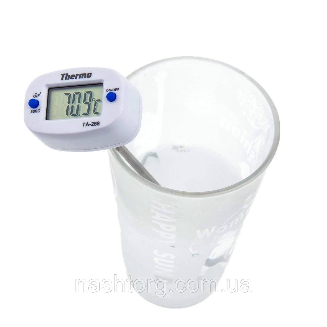 🔝 Кулинарный электронный термометр со щупом Thermo TA-288, Белый, с доставкой по Укриане   🎁%🚚