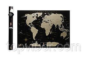 ✅ Скретч карта мира, My Map Black Edition, карта для путешествий, Gold, ENG