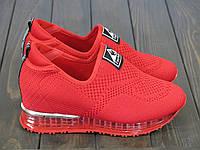 Красные женские кроссовки FLM7222-2 RED 36 23 см, фото 1