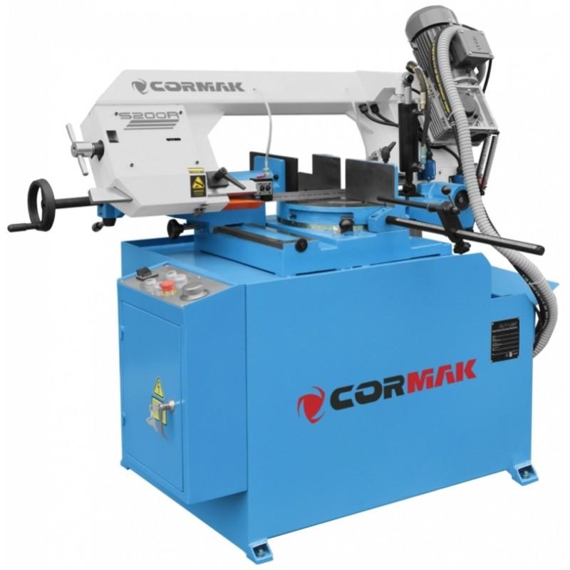 Полуавтоматическая ленточная пила CORMAK S-200R (Полуавтомат)
