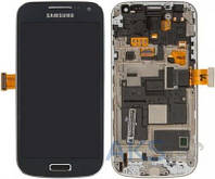 Дисплей (экран) для телефона Samsung Galaxy S4 mini I9190 + Touchscreen with frame Original Blue