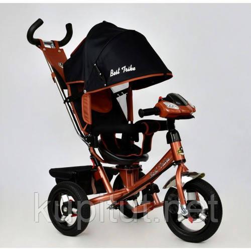 Велосипед трехколесный Best Trike 7700 В - 6670 черно-бронзовый , бронзовая рама