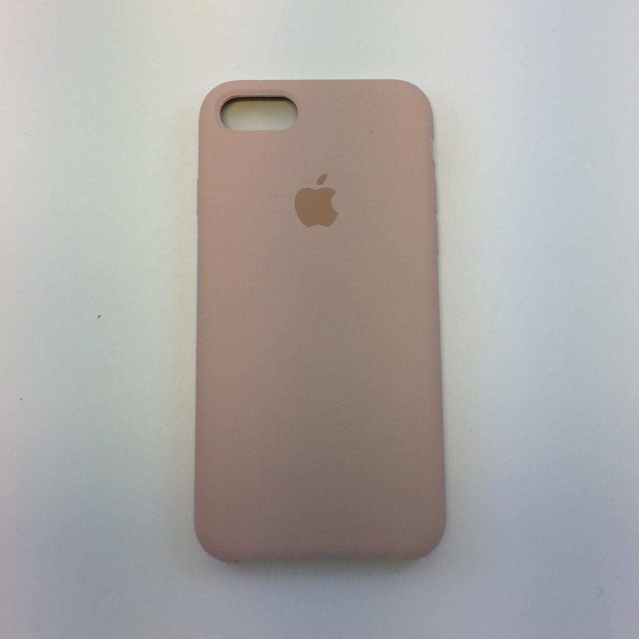 Силиконовый чехол для iPhone 7 Plus, - «пудра - pink send» - copy original