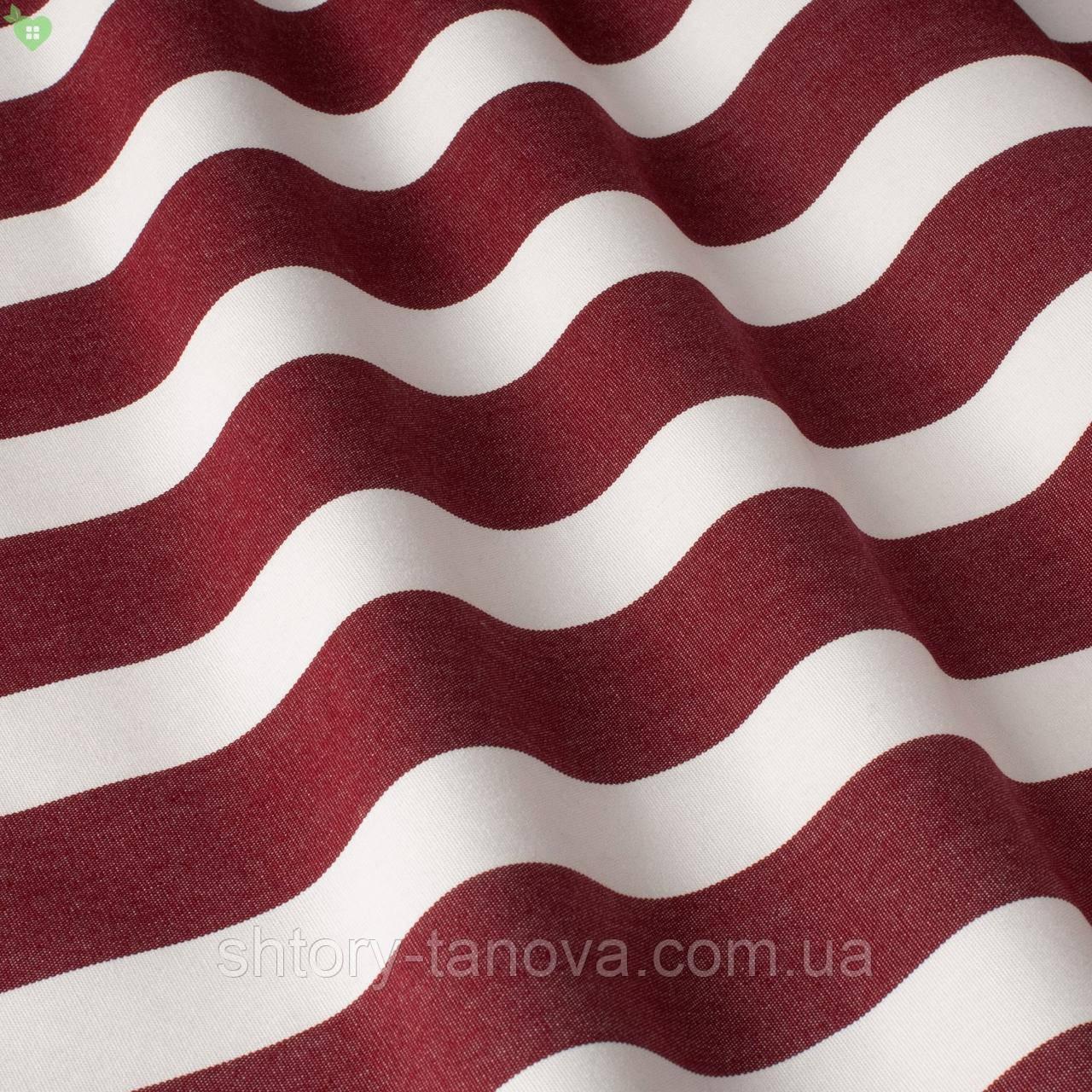 Вулична декоративна тканина для подушок на вуличні меблі в смужку червоного і білого кольору