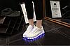Детские светящиеся LED кроссовки с подсветкой мигающие USB зарядка, [ 38 39 40 41 ], фото 5