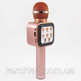 Микрофон для караоке WS-1818 Rose (USB/Bluetooth/AUX)