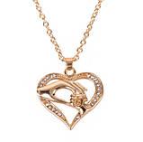 Кулон в форме сердца Мама золотистый, фото 2